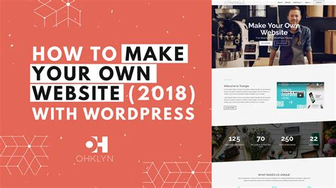 tutorial create website using wordpress free wordpress tutorial by ohklyn beginners to intermediates