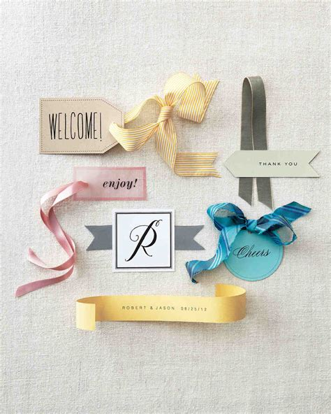 Favor Tag Clip Art And Templates Martha Stewart Weddings Wedding Favor Tags Template