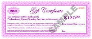 Gift Certificate Terms And Conditions Template by Posh Gift Certificates