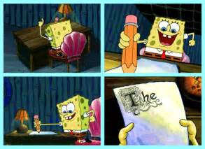 Spongebob Doing Essay by 14 Tremendous Spongebob Gifs Smosh