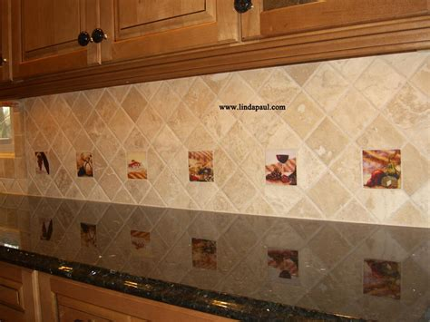 backsplash with accent tiles the vineyard tile murals tuscan wine tiles kitchen