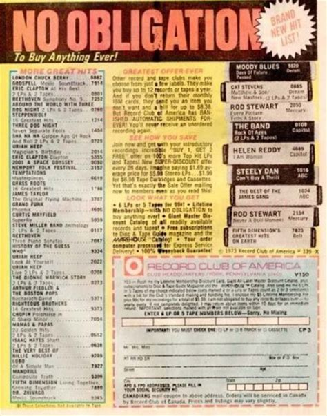 Columbia House Record Club by I Want Back Columbia House S Bankruptcy And The