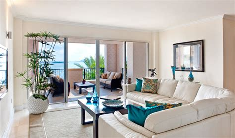 fisher island staged condo contemporary family room
