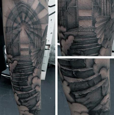 50 Heaven Tattoos For Men - Higher Place Design Ideas Gates Of Heaven Design