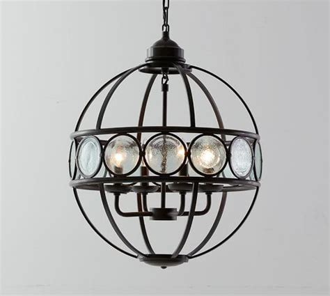 Metal Orb Black Chandelier Glass Orb Chandelier