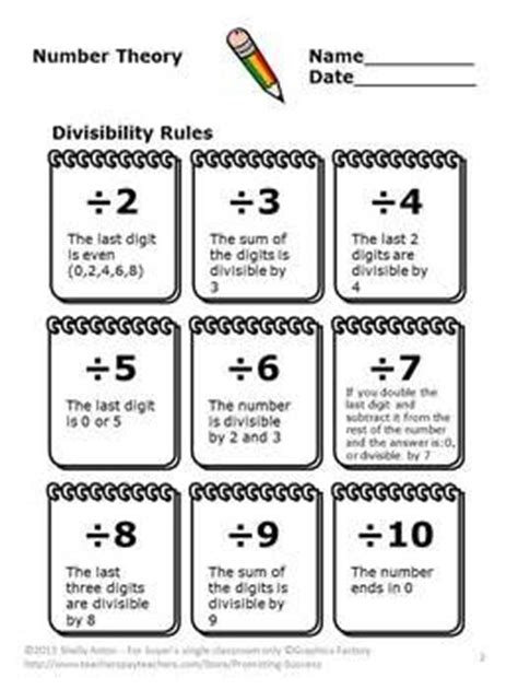 divisibility rules worksheets multiples  divisors activities student   ojays