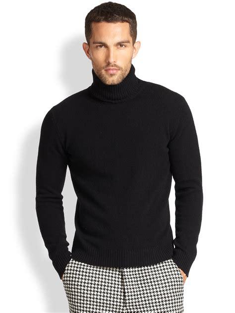 Sweater Turtleneck lyst ami wool turtleneck sweater in black for