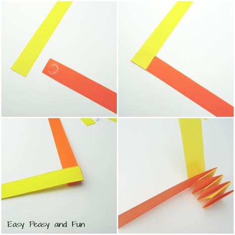 How To Make A Paper Accordion - accordion paper snake craft easy peasy and
