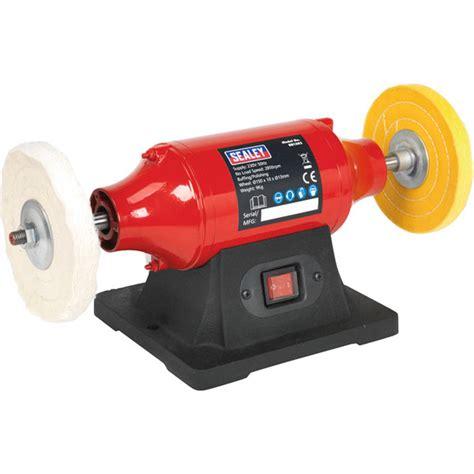 bench buffer sealey bench mounting buffer polishers 230v rapid online