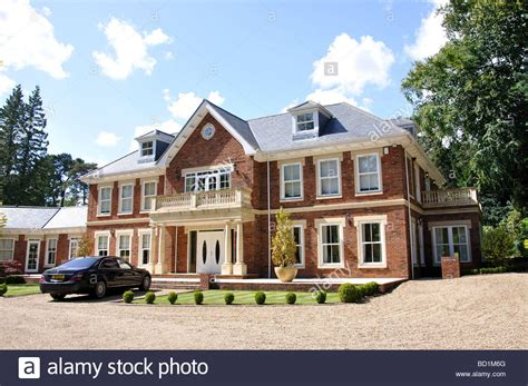 buy house christchurch large detached house christchurch road virginia water surrey stock photo royalty