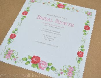 bridal shower invitations to make on your own make handkerchief invitations