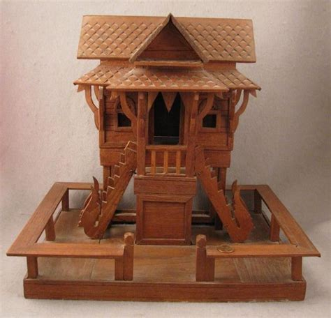 Handmade Wooden Doll Houses - traditional miniature dolls and miniature on