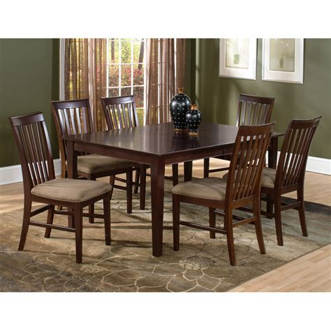 lakeport 7 dining set with extension table dcg shaker 7 extension dining set w 78 x 42 rectangle table dcg stores