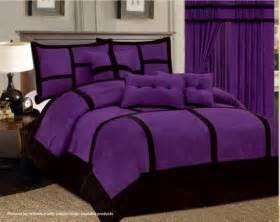 7 pc purple black comforter set micro suede california 17 best ideas about purple bedding sets on pinterest