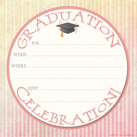 free graduation announcement template free printable invitations graduation