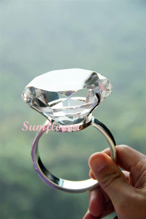 big plastic ring diameter 8 cm 超大粒仿鑽石戒指