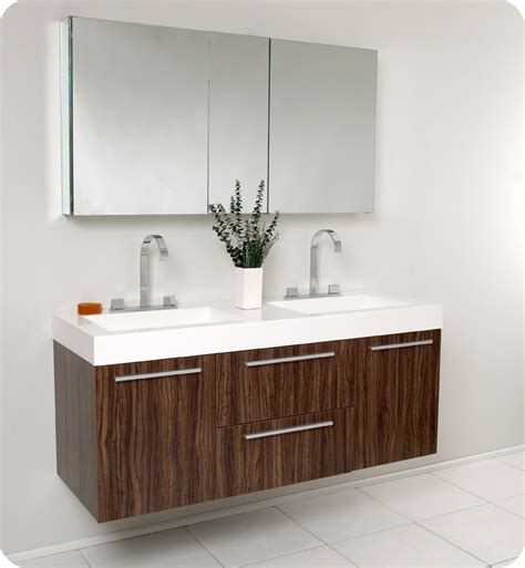 54 bathroom vanity double sink 54 quot opulento double sink vanity walnut bathgems com