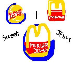 Kaos Burger King burguer king and mc donalds logo become one