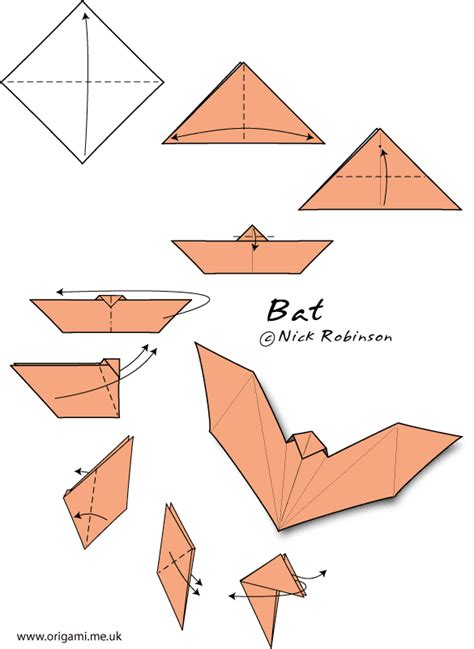Easy Bat Origami - going batty crease is the word
