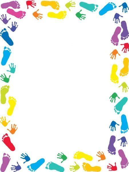 handprints  footprint border bordas coloridas bordas