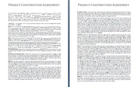 construction project management agreement template project construction agreement template free agreement