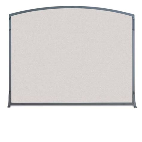 Single Fireplace Screen by Wrought Iron Single Panel Classic Arch Fireplace Screen By
