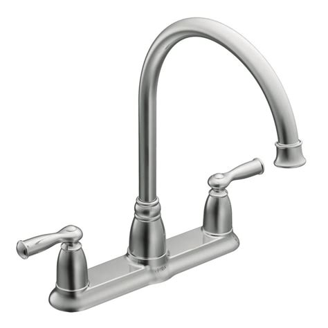 2 kitchen faucet moen banbury 2 handle kitchen faucet chrome finish the home depot canada