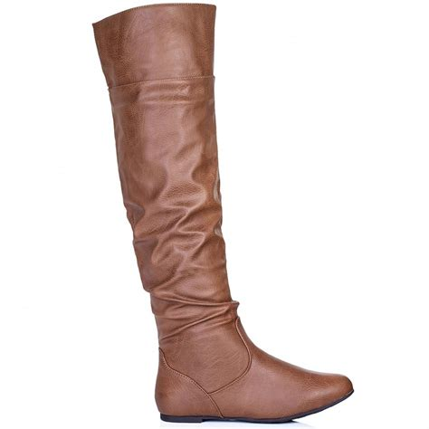 buy undercover flat slouch knee boots leather