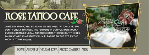 rose tattoo menu