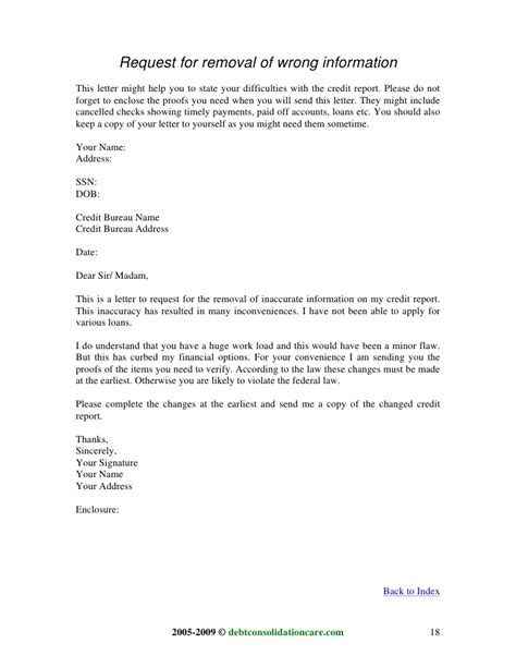 Credit Report Correction Letter Template Sleletter