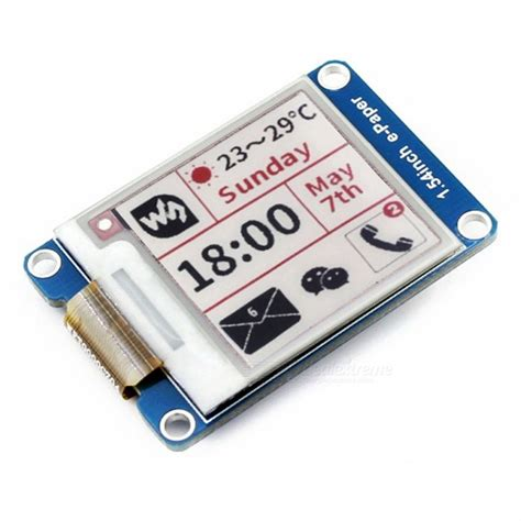 color e ink display 1 54inch three color e ink display module for raspberry pi