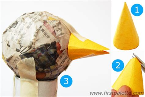How To Make A Bird Beak With Paper - papier mache turkey craft crafts firstpalette
