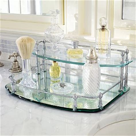 Glass Bathroom Tray Uk Belmont Two Tier Vanity Tray Brushed Nickel Frontgate