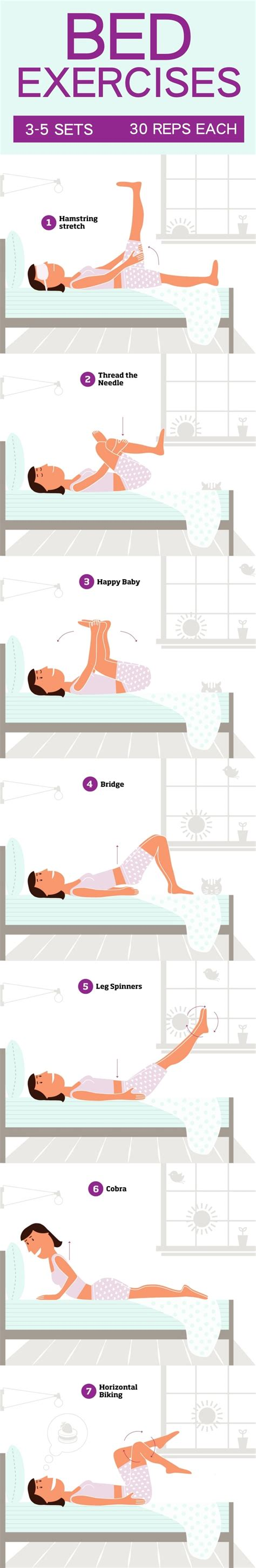 bed exercises how to work out at home tips and exercises