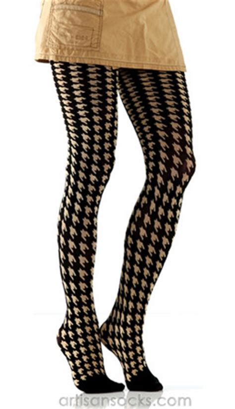 patterned microfiber tights tan black houndstooth tights microfiber pattern tights