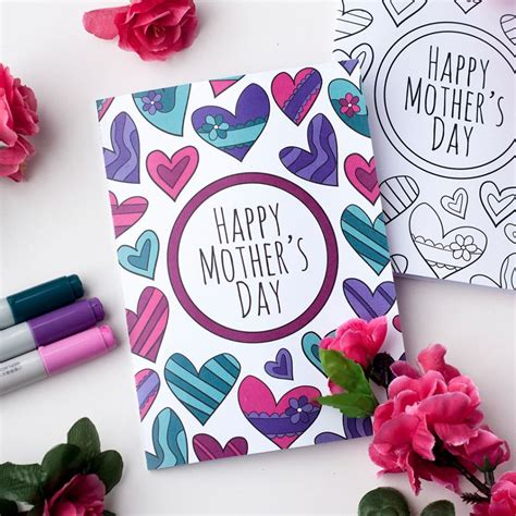 Mothers Day Card free s day coloring card clark