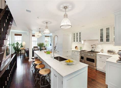 Long Kitchen Island   Transitional   kitchen   COCOCOZY