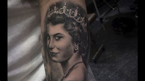 tattoo queen elizabeth royally cool portrait tattoos of queen elizabeth ii tattoodo