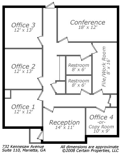 layout of doctor s office small office floor plan call 678 318 1970 for more