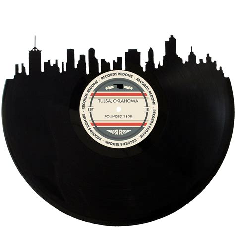 Tulsa Records Tulsa Skyline Records Redone Label Vinyl Record