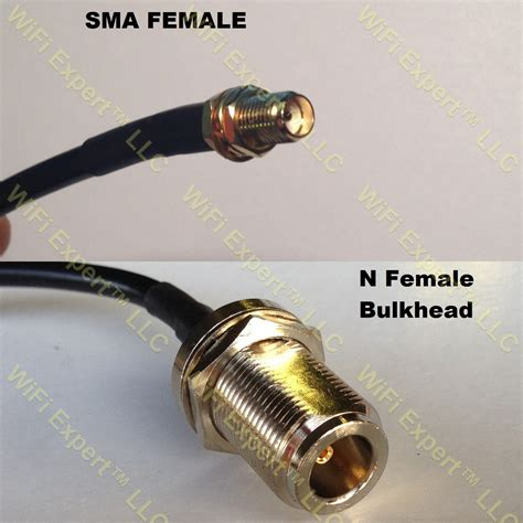 rg58 sma to n bulkhead coaxial rf pigtail cable rf coaxial cables adapters