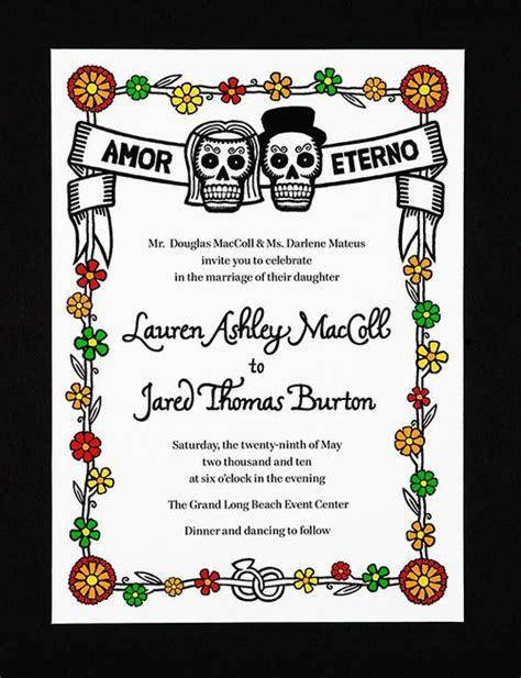 Dia De Los Muertos Wedding Invitations dia de los muertos wedding invitations