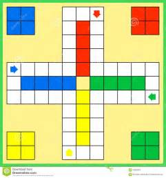 ludo board game stock vector image 63595637