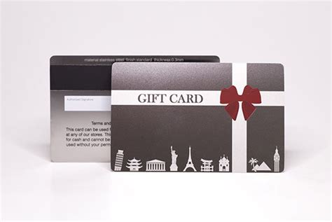 Metal Gift Cards - pure metal cards be unique