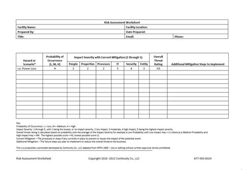 risk assessment matrix template cblconsultics tk