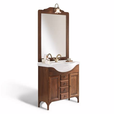 applique arte povera mobile bagno country cm 85 con piedini spechiera applique