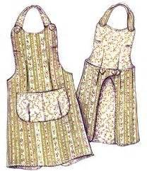 pattern for utility apron drawstring gathering basket half apron for by
