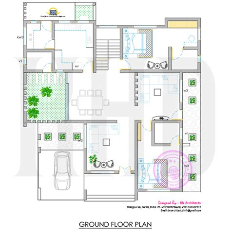 kerala home design ground floor all in one house elevation floor plan and interiors kerala home design and floor plans