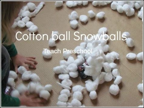 white cotton string fake snow cotton blizzard in a box teach preschool