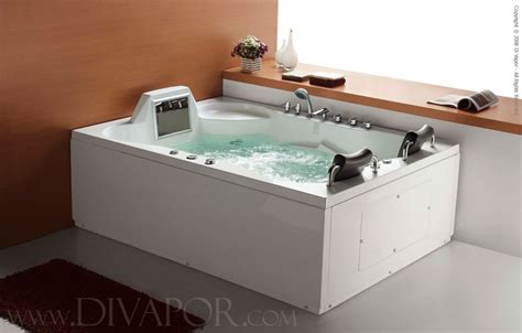 whirlpool for bathtub di vapor luxor 2 person whirlpool bath w waterproof tv